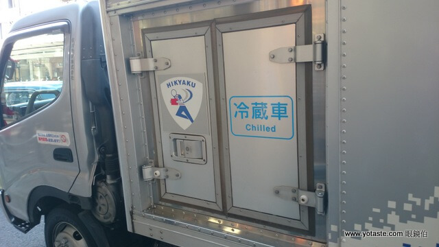 眼鏡伯輸日愛文芒果,使用日本佐川冷藏車配送