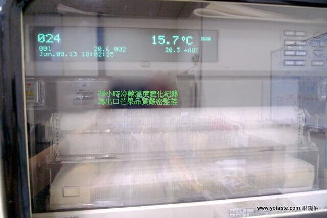 眼鏡伯芒果出口宅配,冷藏溫度變化紀錄儀器